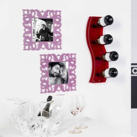 Flaska rött väggen Serry L26,5xH60xP9cm Small, modern design