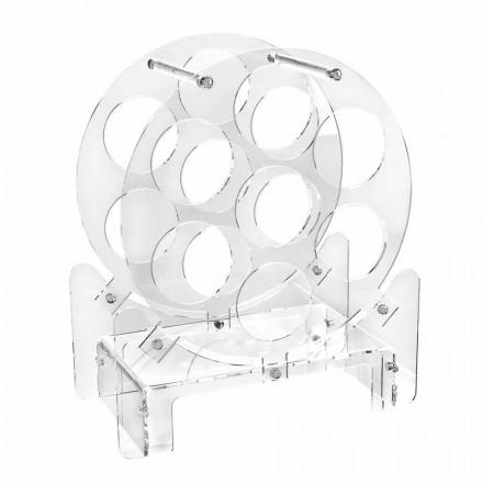 Design bordsflaskhållare i transparent plexiglas eller med trä - Vinello