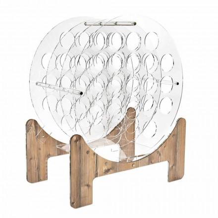 Vinflaskhållare med rund golv i plexiglas - Vinaiolo