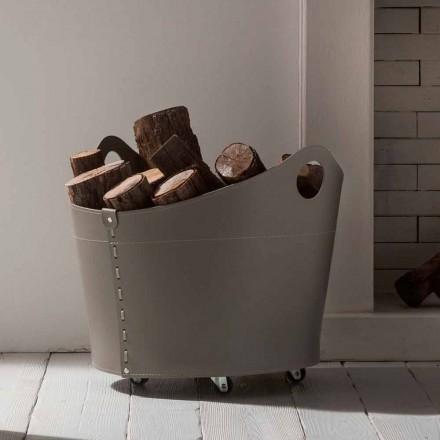 Portalegna Indoor läder med hjul modern design Cadin