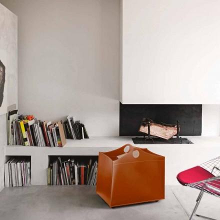 Portalegna bundna läder med WoodBag hjul i Italien