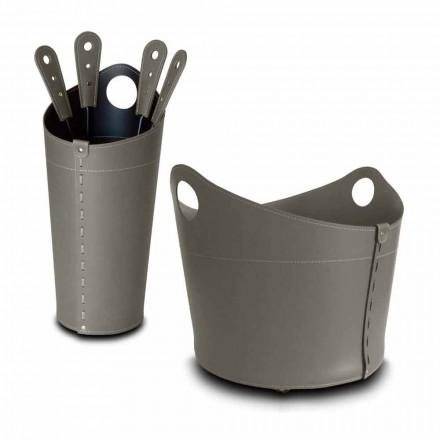 Vedhållare, järnhållare och strykjärn för Nicad läder, tillverkad i Italien