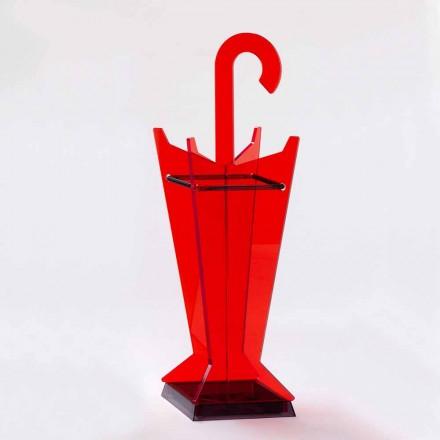 Paraplyställ för modern design i färgat metakrylat tillverkat i Italien - Pappa