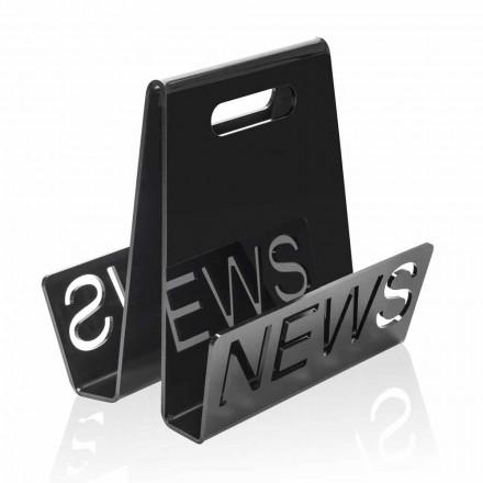 Rack i svart eller genomskinligt plexiglasmagasin tillverkat i Italien - Omar