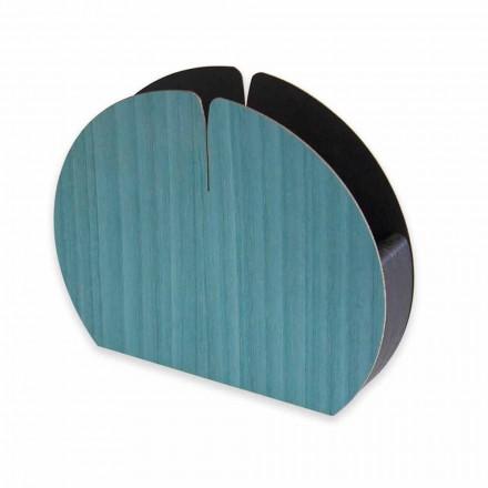 Modern bords servetthållare i naturligt trä tillverkat i Italien - Stan