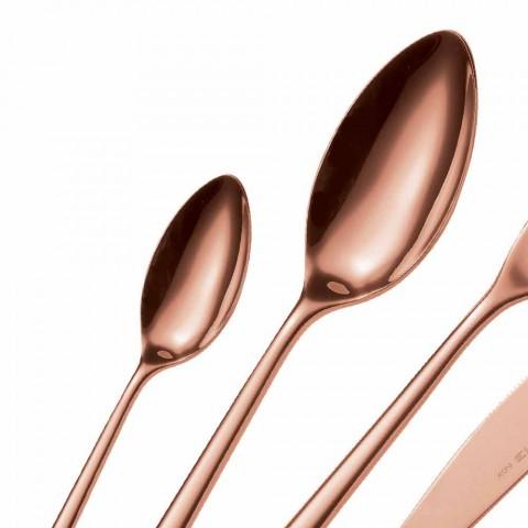 24 stycken lyxigt bestick av polerat eller sandblästrat rostfritt stål - Lapis