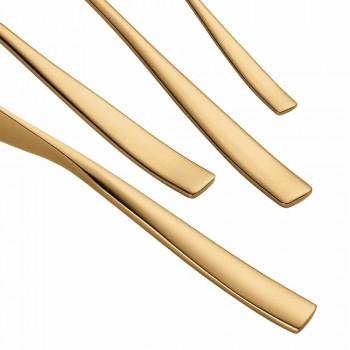 24 delar lyxdesignbestick i sandblästrat eller färgat polerat stål - timidy