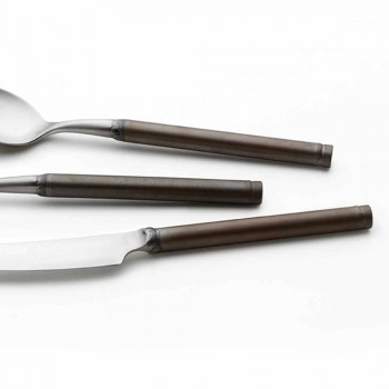 24-delat satinstålbestick italiensk hantverksdesign - Damerino