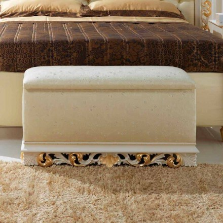 Sittpuff säng container Zais klassisk design, tillverkad i Italien