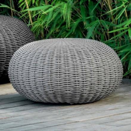 Medium och rund puff Jackie från Talenti för trädgård täckt med rep