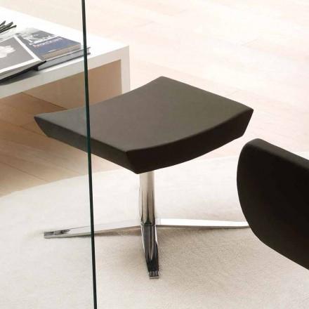 Modern kontorspouf i eko-läder och aluminium - Clio