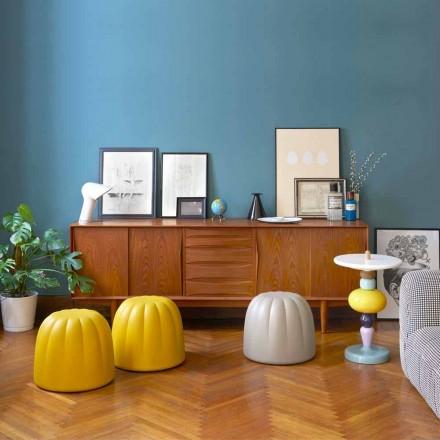 Mjukt färgad puff Slide Gelee i polyuretan tillverkad i Italien