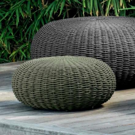 Liten och rund puff Jackie av Talenti modern design för trädgård