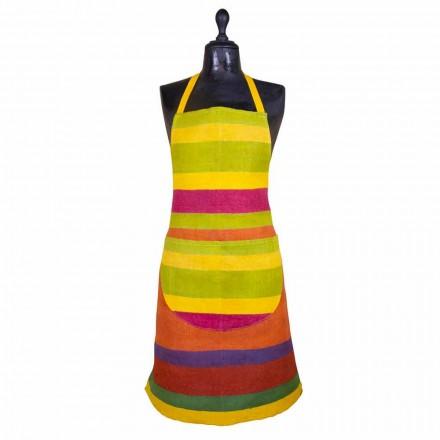Precious Craft Förkläde i Hamp Handmålad Tillverkad i Italien - Viadurini av Marchi