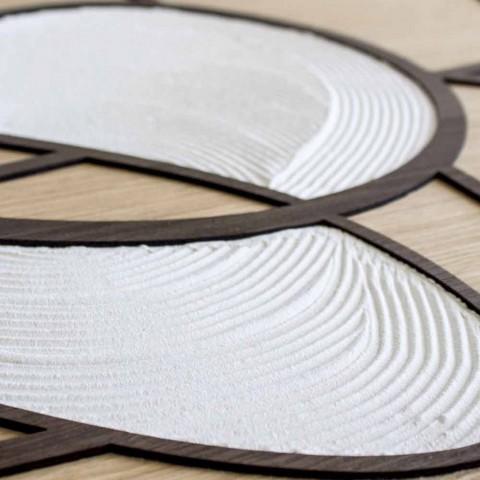 120x60 ram i ek och vit kropp bearbetad av hand- och basreliefs - Sambuca