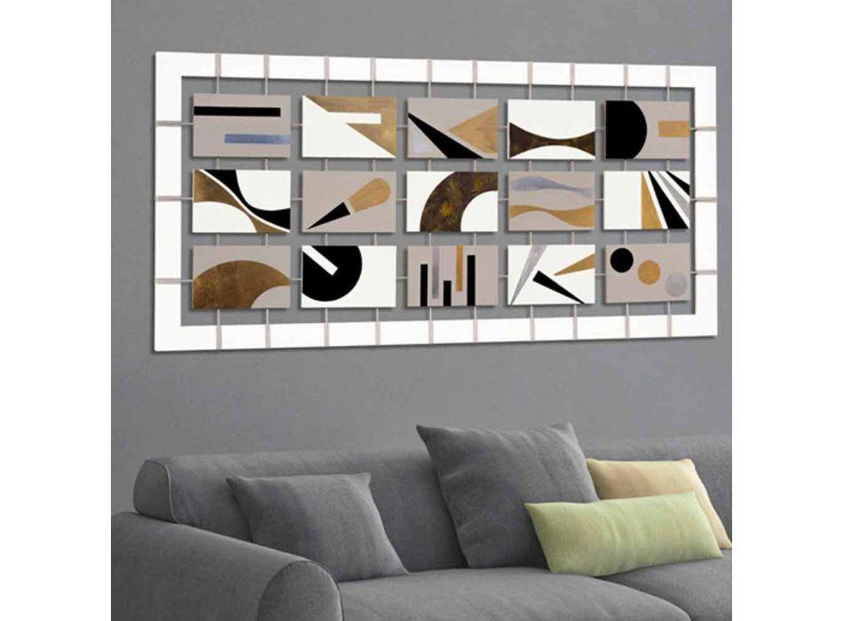 Abstrakt ram med femton paneler avstängd på Craig-rep