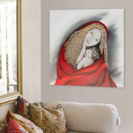 Handgjord modern designbild Madonna
