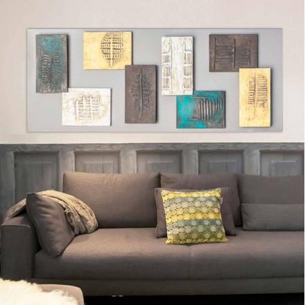 Modern målning med duva-grå duk och åtta element av Andrew