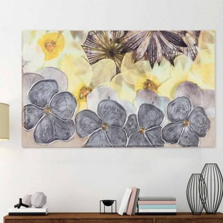 Modernt blommigt ramverk med handdekorerade Ramos kronblad