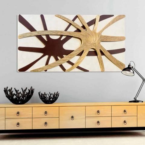 Abstrakt modern rektangulär panel med en Chad pärlemonterad panel