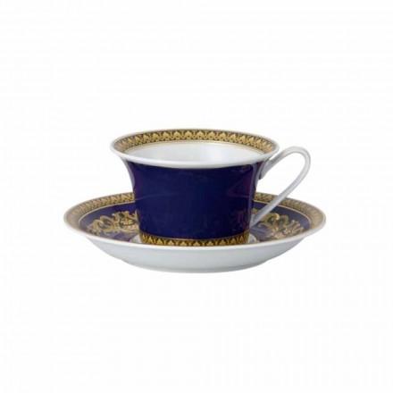 Rosenthal Versace Medusa Blue mugg från modern design porslin te