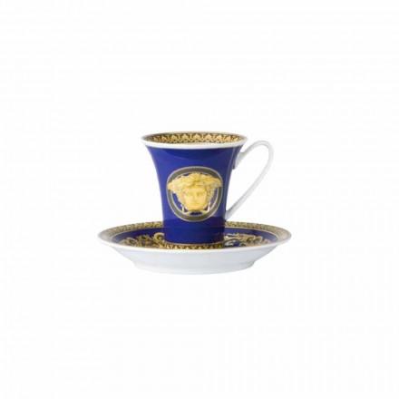 Rosenthal Versace Medusa Blue kopp designer kaffe porslin