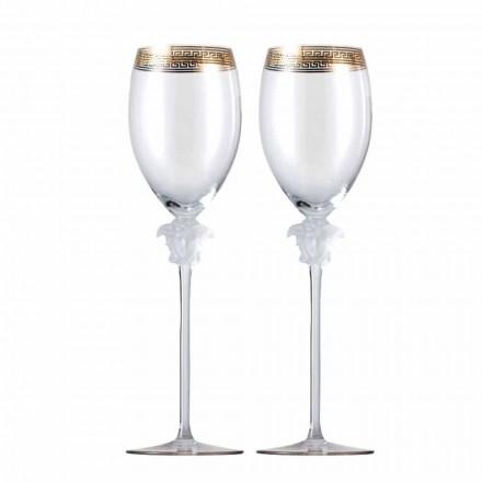 Rosenthal Versace Medusa D'Or 4 koppar vitt vin glas