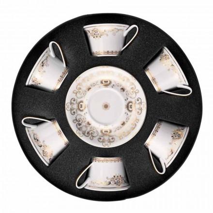 Rosenthal Versace Medusa Gala Cups porslin te 6 st