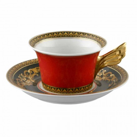 Rosenthal Versace Medusa Red Cup modern design porslin te
