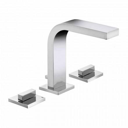 Lyxig design mässing 3-håls tvättställsblandare - Etto