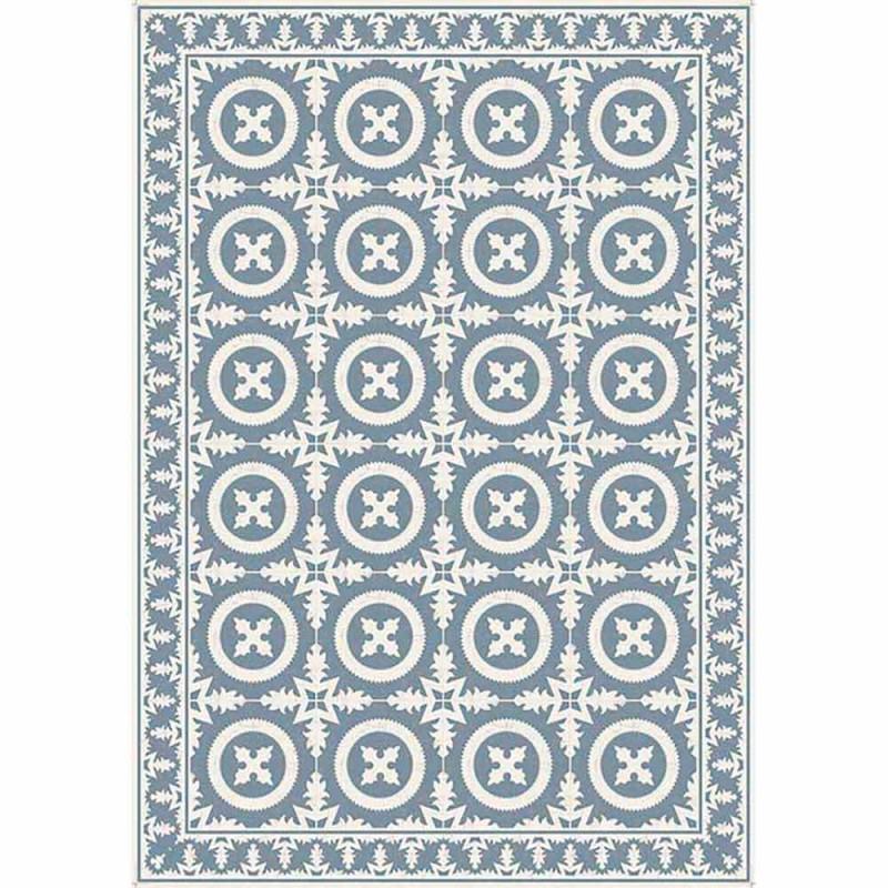 Beige eller blåmönstrad tabellrunner i Pvc och modern polyester - Bondo