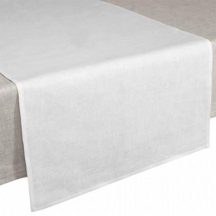 Table Runner 50x150 cm i krämvitt rent linne i Italien - Blessy