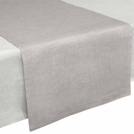 Bordslöpare i rent naturligt linne 50x150 cm Tillverkat i Italien - vallmo
