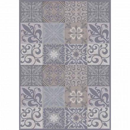 Moderna grå eller svartmönstrade bordsrunner i PVC och polyester - pitabröd