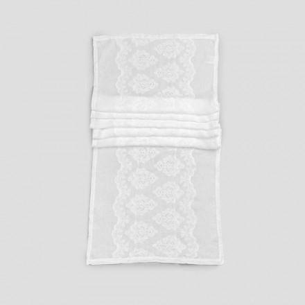 Bordslöpare 100% linne med broderi av lyxig design - Giuggiolo
