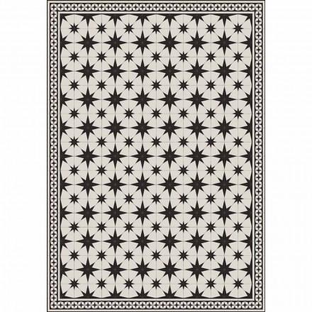 Designbordslöpare i rektangulärt mönster i Pvc och polyester - Osturio