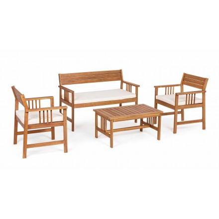 Lounge 4 Komplement inom trädgårdsdesign i Acacia Wood-Roxen