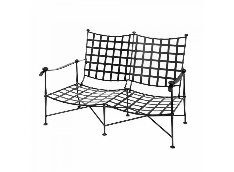Artisan Outdoor Living Room i Iron Graphite Finish Made in Italy - Lietta