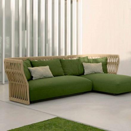 Cliff Talenti uteservering med soffa och soffbord, design Palomba