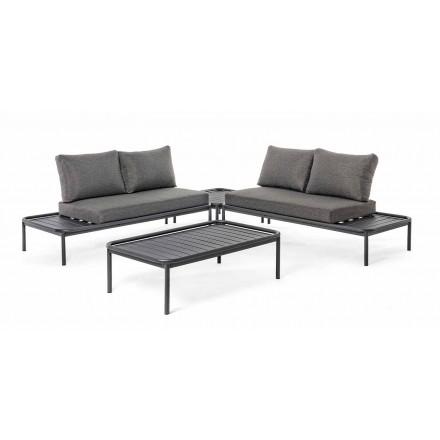 Modern utomhus lounge i aluminium och antracit homemotion - Palmira