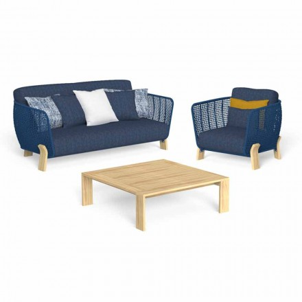 Garden Lounge med soffa, fåtölj och lyxigt soffbord - Argo av Talenti