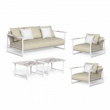 Lyxig trädgårdslounge, soffa, fåtöljer och kaffebord - Riviera av Talenti