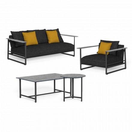 Luxury Garden Lounge i aluminium, stengods och tyg - Riviera av Talenti