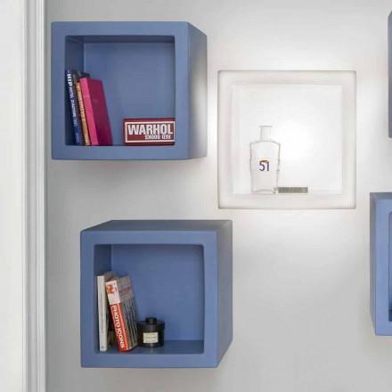 Cube-färgad hyllan Slide Open Cube modern design gjord i Italien