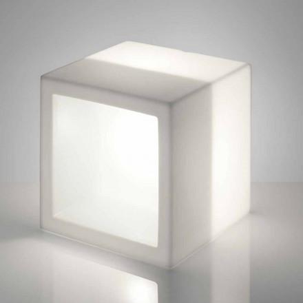 Kubbelysningshylla Slide Open Cube modern design gjord i Italien
