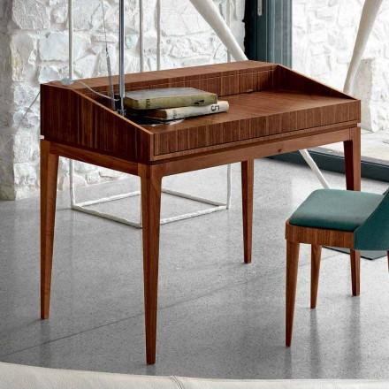 Skrivande av modern design i valnöt, L 105 x W 65 cm, Acario
