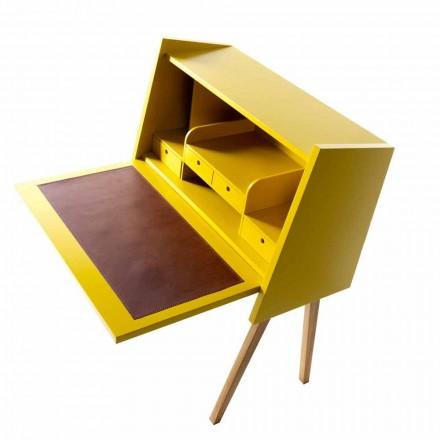 Design flerlagers trä skrivbord Grilli Hemingway gjorde Italien