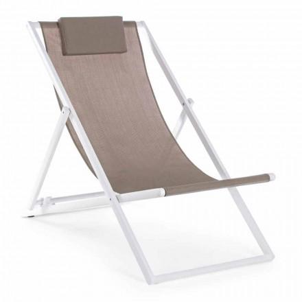 Solstol utomhus i aluminium med sittplats i textilene, 4 delar - Kailua