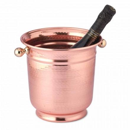 Ice Bucket Wine Design i polerad koppar eller grön 20 cm - Gennarino