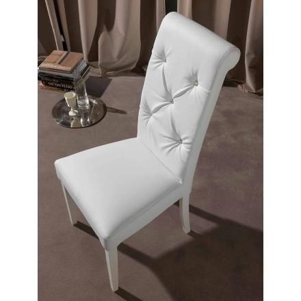 Klassisk stol med tuftad bearbetning och diamanter - Diana